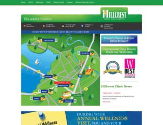 hillcrestclinics.net screenshot