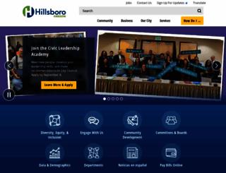hillsboro-oregon.gov screenshot