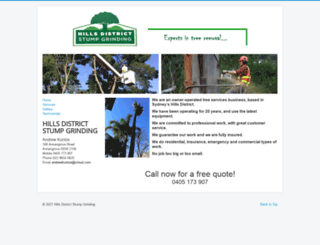 hillsdistrictstumpgrinding.com.au screenshot