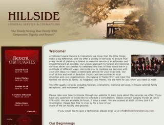 hillsidefuneralservice.com screenshot