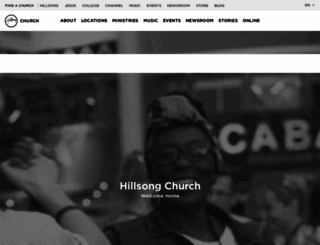 hillsong.com screenshot