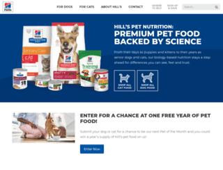 hillspetnutrition.com screenshot