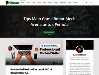 hilman.web.id screenshot