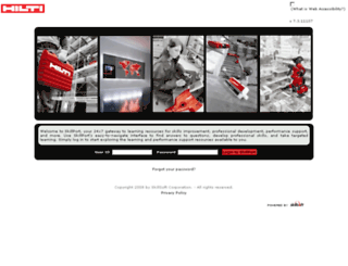 hilti.skillport.com screenshot