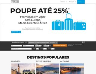 hilton-hotels.com.br screenshot