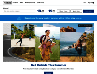 hilton.com screenshot