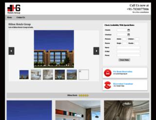 hilton.hotelsgroup.in screenshot