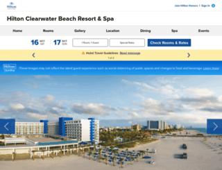 hiltonclearwaterbeach.com screenshot