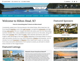 hiltonhead.com screenshot