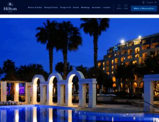 hiltonmaltahotel.com screenshot