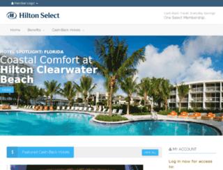 hiltonselect.com screenshot