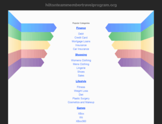 hiltonteammembertravelprogram.org screenshot