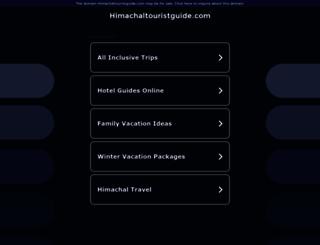 himachaltouristguide.com screenshot
