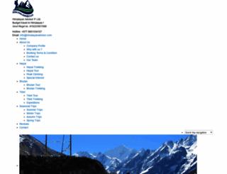 himalayanadvisor.com screenshot