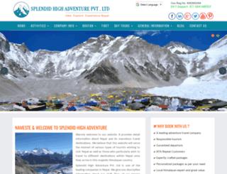 himalayantreksnepal.com screenshot