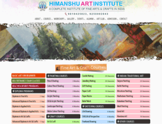 himanshuartinstitute.co.in screenshot