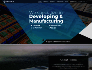 himaxelectronics.com screenshot