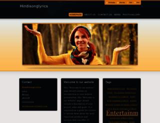 hindisonglyrics.webnode.com screenshot