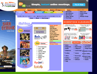 hindisongs.allindiansite.com screenshot