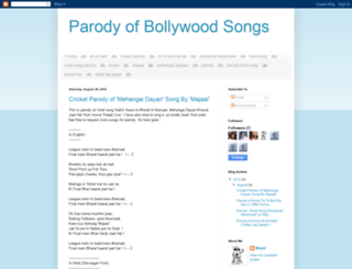 hindisongsparody.blogspot.com screenshot