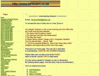 hinduism.co.za screenshot