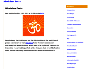 hinduismfacts.org screenshot