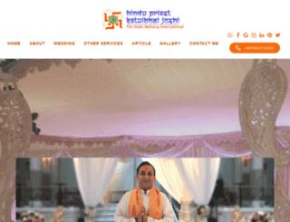 hindupriestketuljoshi.co.uk screenshot