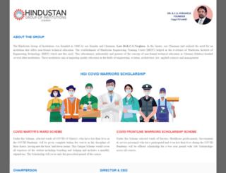 hindustan.ac.in screenshot