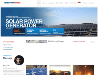 hindustanpowerprojects.com screenshot