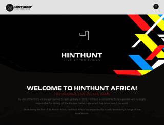 hinthunt.co.za screenshot
