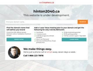 hinton2040.ca screenshot