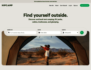hipcamp.com screenshot