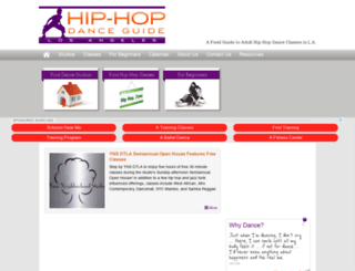 hiphopdanceguide.com screenshot