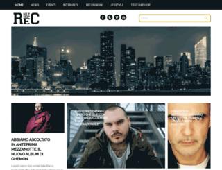 hiphoprec.com screenshot