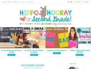 hippohoorayforsecondgrade.com screenshot
