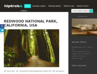 hiptreks.com screenshot
