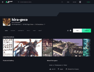 hira-geco.deviantart.com screenshot