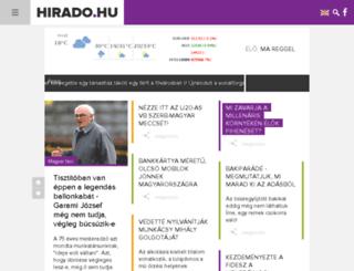 hirado.hu screenshot