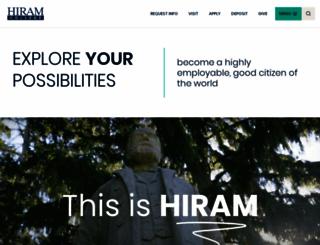 hiram.edu screenshot