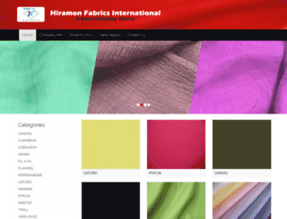 hiramonfabrics.com screenshot