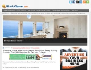 hire-a-cleaner.com screenshot