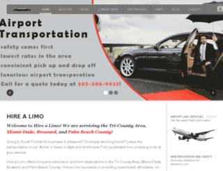 hire-a-limo.com screenshot