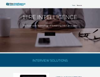 hire-intelligence.com screenshot