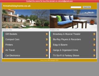 hireaholidayhome.co.uk screenshot