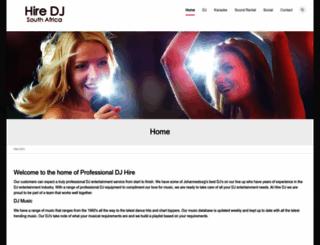 hiredj.co.za screenshot