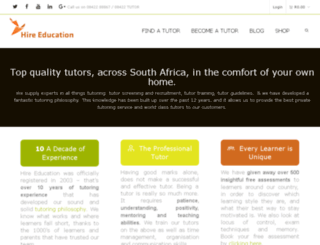 hireeducation.co.za screenshot