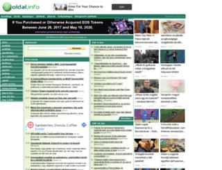 hirek.oldal.info screenshot