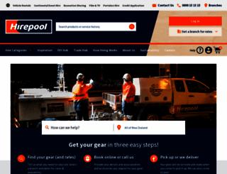 hirepool.co.nz screenshot