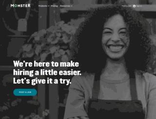 hiring.monster.ie screenshot
