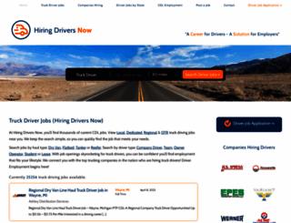 hiringdriversnow.com screenshot